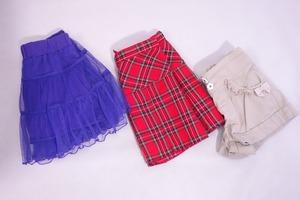 ■【エニィファム等】any FAM等/スカート・ショートパンツ3点セット(100サイズ女の子向け)赤・ベージュ・紫/女の子《中古△》■