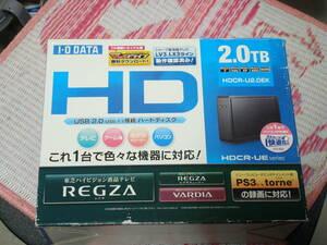 REGZA シャープ PS3 torne録画対応 I・O DATA 2.0TB(起動3051回 累積使用時間7282H) USB2.0接続 HDCR-U2.0EK 送料無料