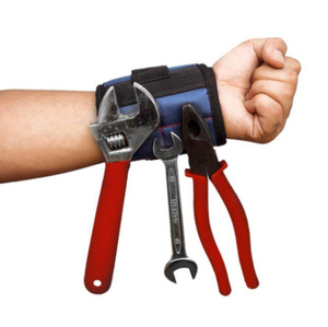 Mz3278:オックスフォード布 磁気ブレスレット 磁気リストバンドポケットツール ベルトポーチバッグ ネジ保持 作業ヘルパー