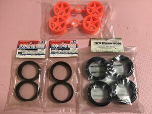 送料無料 ラジコン タイヤホイール セット レーシングスリックタイヤ 1/10 タミヤ パナレーサー ツーリングカー TAMIYA PANARACER