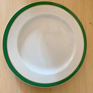 レトロ ヴィンテージ Adam&Eve アダムアンドイブ ホワイト ゴールドライン 平皿 プレート ケーキ皿 橘吉 Tachikichi 食器 皿 陶器 洋食器