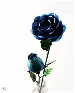造花 バラ 薔薇 インテリア おしゃれ フェイクフラワー レッド アイアンローズ2本セット 【Cカラー】 送料無料(一部地域除く) mty7049c