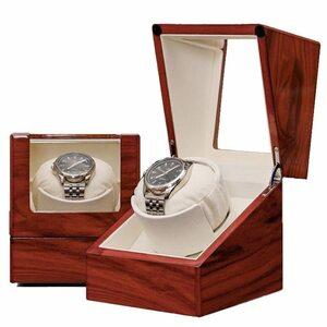 ワインディングマシン ウォッチワインダー 腕時計 自動巻き 木製シングル自動ウォッチワインダーボックス時計ウォッチワインダー巻回転