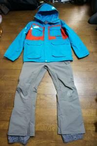 男性用 BURTON バートン スノーボードウエア MB FRONTIER JACKET フロンティア ジャケット + MB VENT PANT ベントパンツ 上下セットXL