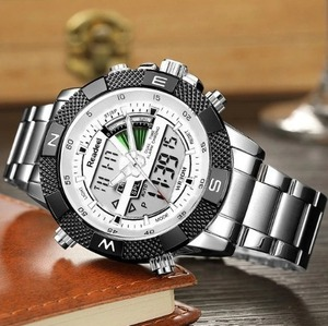 レロジオmasculino readeel高級ブランドアナログデジタルスポーツ腕時計デュアルディスプレイledクォーツ男性腕時計ビジネス男性腕時計