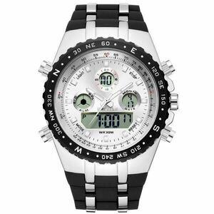 【送料無料】Readeelトップブランドスポーツクォーツ腕時計メンズミリタリー防水腕時計ledデジタル腕時計メンズクォーツ腕時計時計メンズ