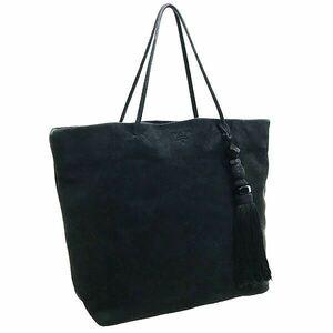 ● プラダ ハンドバッグ タッセル トートバッグ スエード ブラック 黒 PRADA 手提げ バッグ バック カバン 鞄 レディース 女性 NERO
