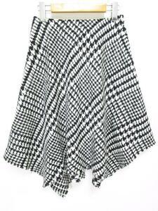 EPOCA エポカ スカート サイズ38 Mサイズ 黒(ブラック)×白(ホワイト) 千鳥格子 綿(コットン) 日本製 ハイブランド カジュアル/n918133