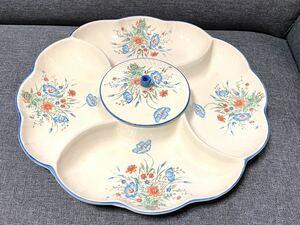 【蓋付き】花型 大皿