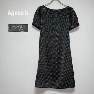 アニエス・ベー Agnes b ワンピース 膝丈 ドット