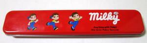 80s Vintage Milky Peko 不二家 ミルキー ペコちゃん 缶ペン 缶ペンケース 筆箱 キャラクター玩具 筆記用具 昭和レトロ ヴィンテージ
