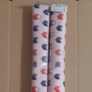 綿100%オックス生地 プティシャノワール ブック柄(猫柄)約110cm巾×50cm 2個