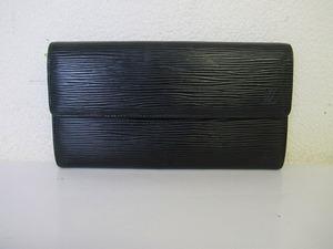 BAD11★ルイ・ヴィトン/LOUIS VUITTON 長財布 ポルトモネ クレディノワール M63592 エピ 製造番号:CA0956 中古品