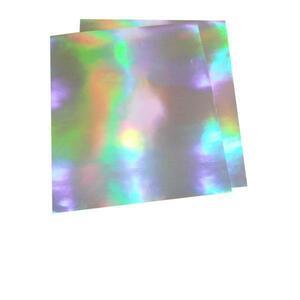 大判ホログラムシート紙 粘着なし お徳用10枚セット レインボー こんなの欲しかった 切って使える 裏面白紙 包装紙 折り紙