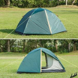 【ドーム型ツーリングテント】 1~2人用 収納ケース ツーリング キャンプ アウトドア レジャー キャンプ 旅行 軽量 コンパクト BUNDOK