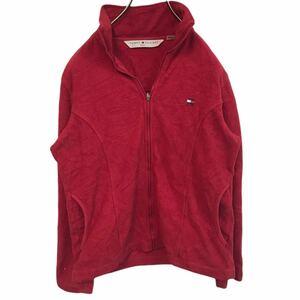 トミーヒルフィガー tommy hilfiger JEANS トミージーンズ ジップアップ フリース ジャケット zip-up fleece jacket レッド YT444