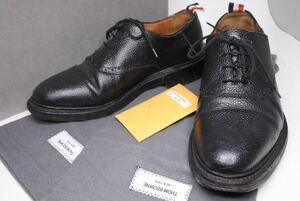 THOM BROWNE トムブラウン シューズ 靴 ダービー サドル トリコロール US7 17ss MFD042A-00198 001 ブラック メンズ 中古 26113 正規品