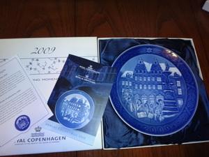ロイヤルコペンハーゲン   『イヤープレート  2009年』  飾り皿  未使用保管品  格安送料 コレクション 箱あり