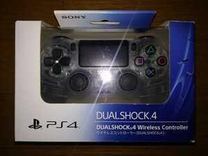 PS4 ワイヤレスコントローラー DUALSHOCK 4 デュアルショック4 クリスタル 新品同様品