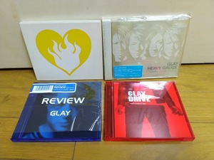 GLAY / pure soul / HEAVY GAUGE / REVIEW - BEST OF GLAY / DRIVE - GLAY complete BEST / アルバム4枚セット / おまけ付き / 美品