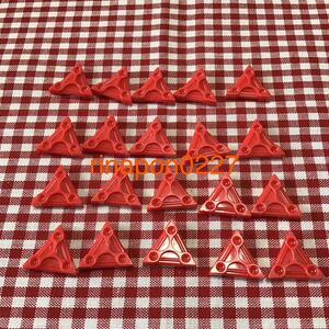 used 「 LaQ ラキュー 基本 パーツ 赤色 No.2 20個 」 / 三角形 / レッド /20ピース/ パズルブロック 知育玩具おすすめ