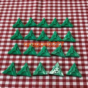 used 「 LaQ ラキュー 基本 パーツ 緑色 No.2 20個 」 / 三角形 / グリーン /20ピース/ パズルブロック 知育玩具おすすめ