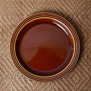 IZ45985I○HORNSEA エアルーム プレート 17.5cm 英国 ヴィンテージ ホーンジー Heirloom ブラウン イギリス ビンテージ デザート 食器 陶器