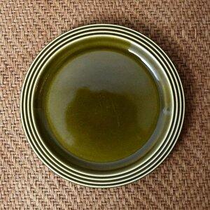 IZ44201I○HORNSEA エアルーム プレート 17.5cm 英国 ヴィンテージ ホーンジー Heirloom グリーン 緑 陶器 デザート イギリス ビンテージ