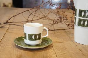 イギリスヴィンテージ JOHNSON BROTHERS カップ&ソーサ(在庫4)/ ジョンソンブラザーズ/食器/マグ/コーヒーカップ/cafe/レトロ/リーフ
