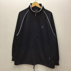 【N141】HEAD Lサイズ ジャージ ブラック 裾紐付き メンズブランド古着 ヘッド 黒色 スポーツウェア トレーニングウェア 送料無料
