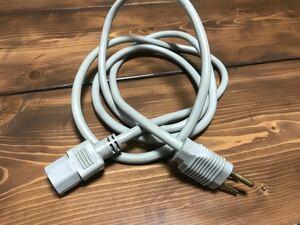 値引き!電源ケーブル 3ピンソケット(メス)-3ピンプラグ(オス) 1.8m