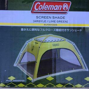 【送料無料 新品 未使用】コールマン(Coleman) テント スクリーンシェード 2~3人用 アーガイル/ライムグリーン 2000017137