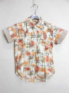 【1950年代HbarC/KIDSsize】 VINTAGESHIRT / 子供服ビンテージシャツ (ロカビリー/ボーイズキッズ) ヴィンテージアンティーク