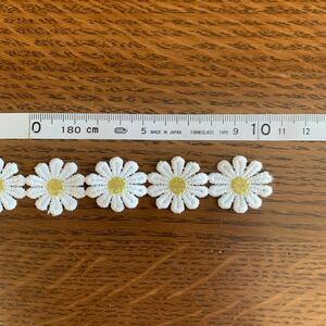 お花のケミカルレース20cm(お花8個分)  ハンドメイド 材料 入園・入学グッズ ワンポイント