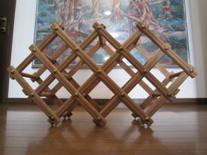 お洒落 木製 フォールデイング ワインセラー 棚 折り畳み式 ワインの棚