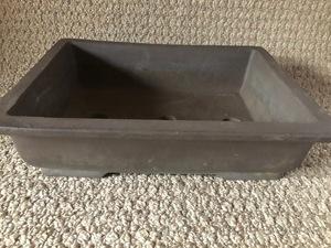 植木鉢 鉢 盆栽 盆栽鉢 ガーデニング 浅型 陶器 長方形 フラワーポット 落款 開洋製陶 105