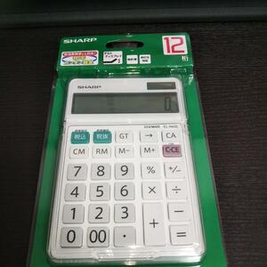 ★新品・未使用★シャープ 電卓 12桁 EL-N432-X 計算機 簿記 事務 シャープ ナイスサイズタイプ