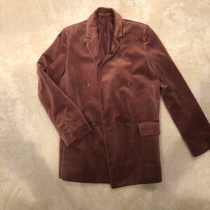 GU ベロア テーラードジャケット