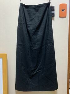 KEIKO KISHI スリットスカート ロングスカート to black