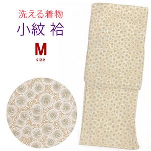 洗える着物 小紋 袷 Mサイズ「茶系、水玉」 HAM654