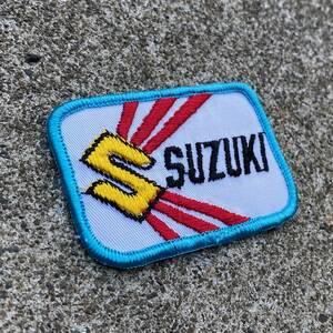 2激レア ビンテージ 70's SUZUKI スズキ ワッペン GT 750 380 GS ハスラー EPO RG RM GSX カタナ バンバン BELL BUCO BATES レーシング