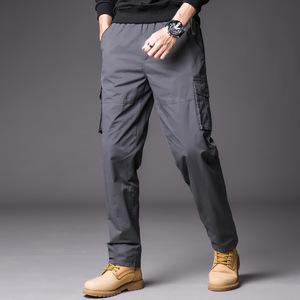 ワークパンツ カーゴパンツ メンズ ロングパンツ ズボン 作業着 グレー XL