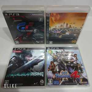PS3 ソフト ニードフォースピードなど 4タイトル 動作未確認 送料無料!
