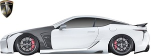 【M's】LEXUS LC500h LC500 (2017.3-) AIMGAIN SPORT サイドアンダスポイラー 左右 // FRP 未塗装 エイムゲイン エアロ パーツ セット