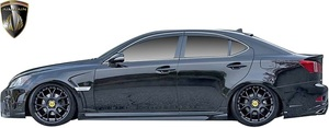 【M's】LEXUS 20系 IS GSE20 GSE21 (2005.9-2013.4) AIMGAIN 純VIP GT サイドステップ 左右 // FRP 未塗装 エイムゲイン エアロパーツ