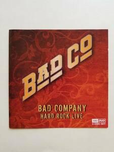 CD&DVD バッド・カンパニー BAD COMPANY HARD ROCK LIVE 輸入盤 ポール・ロジャース ミック・ラルフス サイモン・カーク