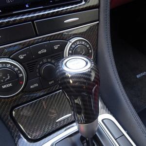 メルセデス ベンツ カーボン ルック シフトノブ カバー W463 G550 G55 X204 GLK300 W219 CLS350 CLS500 CLS550 CLS55 CLS63