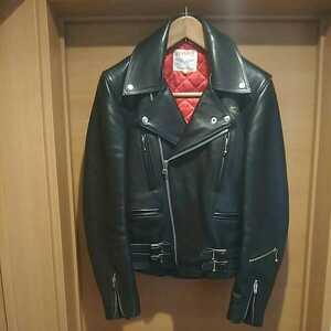 貴重 入手困難 666期 ルイスレザー Lewis Leathers ライトニング ライダースジャケット 革ジャン 32 パンク ロカビリー ロックンロール 黒