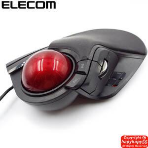 送料無料■定価\13,673 エレコム トラックボールマウス M-HT1URBK 未使用品◆有線 8ボタン チルトホイール パームレスト搭載 大型 elecom