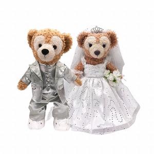 2点セット!ウエディングドレス 結婚式 ダッフィー シェリーメイ ジェラトーニ ステラルー ぬいぐるみ 衣装 洋服 コスプレ コスチューム1